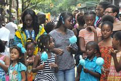 street fair (greenelent) Tags: nyc blue people streets kids brooklyn fun photoaday cottoncandy 365 streetfair