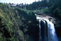 Snoqualmie Falls (goodfella2459) Tags: nikon f65 fujifilm velvia 50 35mm e6 slide film analog colour snoqualmie falls salish lodge great northern hotel twin peaks david lynch mark frost north bend milf water fall