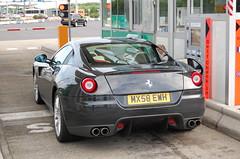 Ferrari 599 GTB Fiorano (D's Carspotting) Tags: ferrari 599 gtb fiorano france coquelles calais black 20100613 mx58ewh le mans 2010 lm10 lm2010