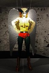Hawk Girl (ec1jack) Tags: artofthebrick southbank dc lego brick cartoon london england britain uk europe winter march 2017 ec1jack kierankelly canoneos600d exhibition dccomics hawkgirl