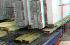 gevel-elementen Boston Rotterdam 3D (wim hoppenbrouwers) Tags: gevelelementen boston rotterdam 3d anaglyph stereo redcyan kopvanzuid nieuwbouw bostonseattle prefab metselwerk