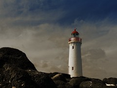 Light house near on Griffiths Island - off Port Fairy (PsJeremy - so behind, need to catch up) Tags: panasonicfz200 portfairy faros 灯塔 victoria australia
