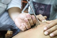 Friday Night Sak Yant (sheiladeeisme) Tags: sakyant tattoo cultural history belief possessed thailand zombies monks bangkok offerings travel tourism tourist shevo religion buddha buddhist