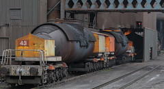 Inferno (Dave McDigital) Tags: applebyfrodingham industrialrailway scunthorpe steelworks britishsteel torpedo molten iron bos