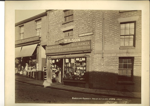Robert Clegg, hatter, hosier & outfitter, 1 High Street & Thomas Wilson, ironmonger, 3 High Street – 1891