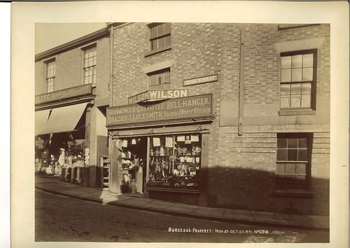 Robert Clegg, hatter, hosier & outfitter, 1 High Street & Thomas Wilson, ironmonger, 3 High Street – 1891