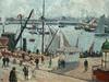 PISSARRO Camille,1903 - L'Anse des Pilotes, Le Havre, Matin, Soleil, Marée montante (Le Havre) - Détail 07