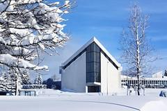 Bustadakirkja Reykjavik (unnurol) Tags: bústaðakirkja bustadakirkja reykjavik iceland kirkja snow church trees winterwonderland winter blue sky outdoor