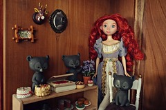everyday life at dunbroch castle (girl enchanted) Tags: ds disney disneystore pixar brave bravedoll meridadoll hamish hubert harris bear bears