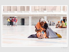 In a world of her own (John Ryland) Tags: goldentemple amritsar india