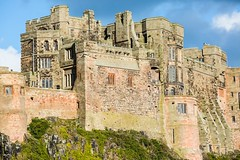 Bamburgh Castle and Walls. (Geordie_Snapper) Tags: bamburghcastle canon5d3 canon2470mm holidayembleton landscape march northumberland spring