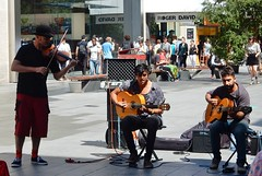 Boy Buskers (mikecogh) Tags: adelaide rundlemall guys trio guitars violin fiddle busking bowlerhat
