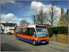 Centrebus 231, Guilsborough (Jason 87030) Tags: centrebus 231 kx55pfo orange blue sky clouds neighborhoodwatch light cars vehicles 60 northampton village northants northamptonshire sony a6000 ilce nex tag flicktr color colour optare solo