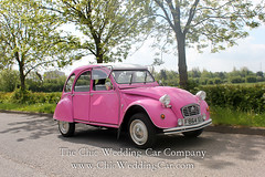 Rosie in the country-11 (magicalnights) Tags: pink wedding car derbyshire 2cv chic weddingcar shabbychicwedding sexyweddingcar 2cvweddingcar