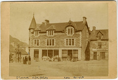 R&A Robertsons, Aberfeldy, late 19th cent (P&KC Archive) Tags: building tourism fashion sport architecture scotland 19thcentury perthshire scene shops recreation roads royalty aberfeldy spectacle perthandkinross