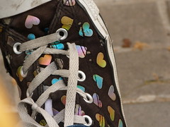 Converse Rainbow Heart (dausica) Tags: street white black art hearts foot photo rainbow shoes heart boots converse limited brand