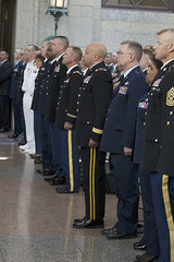 Governor's Wreath-Laying Ceremony - 5/21/13 (Ohio Department of Veterans Services) Tags: columbus ohio standing john remember vet ceremony may honor wreath governor fallen oh service heroes remembrance veteran attention department services gov veterans members sacrifice dept statehouse laying vets honoring servicemen 2013 governors wreathlaying kasich govs