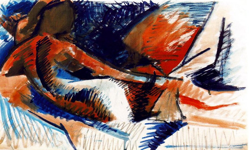 "La Gran Odalisca, argumentación de Jean Auguste Ingres (1814), sinapsis de Auguste Renoir (1890), Pablo Picasso (1907), Amadeo Modigliani (1917). • <a style=""font-size:0.8em;"" href=""http://www.flickr.com/photos/30735181@N00/8805012681/"" target=""_blank"">View on Flickr</a>"