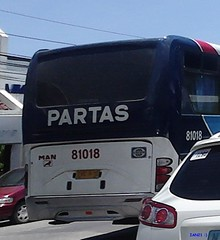Partas Trans 81018 Rear View (Richleigh_Photographixx) Tags: street blue light red white man bus del view deluxe rear group photographers jp ag series rizal monte trans mph inc laoag philippine regular a55 motorworks r39 18350 dm11 partas 81018 assosiation pbpa 18310
