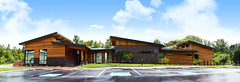exterior view (Trystram) Tags: building hospital exterior view tribal health clinic wellness cowcreek architecturalphotography canyonville