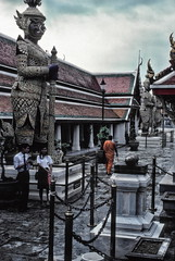 After the rain, Wat Phra Keo temple, Bangkok (1982) (Duncan+Gladys) Tags: thailand bangkok enhanced th