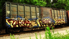 TAXR DRAC NIETS (BLACK VOMIT) Tags: car train graffiti box boxcar lightning freight drac csx niets taxr