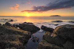 Sunrise (Nick Twyford) Tags: sea newzealand seascape clouds sunrise nikon rocks wideangle nz northisland coromandel eastcoast tairua earlymorninglight colourimage leefilters 1024mm d7000 lee09nd lee06gndhard
