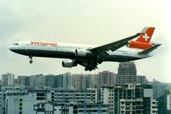 Swissair | McDonnell Douglas MD-11 | HB-IWA | Hong Kong Kai Tak (Dennis HKG) Tags: swiss swissair swr sr md11 aircraft airplane airport plane planespotting hongkong kaitak vhhh vhhx hkg hbiwa