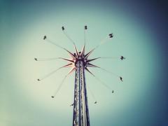 Pleasure Pier Galveston, TX (Vulcan Rider) Tags: galveston wheel amusement pier tx ferris swing rides pleasure iphone uploaded:by=flickrmobile flickriosapp:filter=mammoth mammothfilter