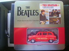 The Beatles Single Sleeve Die-Cast Collectible Taxi in Tin ( A Hard Days Night) (Jimmy Big Potatoes) Tags: liverpool toys thefabfour memorabilia thebeatles beatlemania