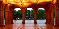 Bethesda Fountain, Central Park NYC (rtanphoto) Tags: nyc newyorkcity longexposure blackandwhite panorama building photoshop architechture empirestate bigapple touristattractions blurb niksoftware ononesoftware rommeltan rtanphoto rommeltanphotography wwwrommeltanphotographycom