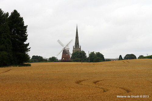 Windmill and Church