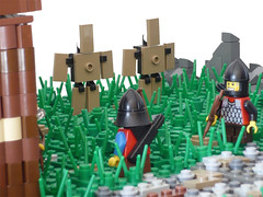 15 (CyberPacket) Tags: wood bridge party horse house tree tower castle classic rock wooden war king village lego forrest battle medieval well drawbridge forge stable moc