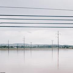 . (JHamel) Tags: reflection lines flooding flood powerline canon5d naturaldisaster muncy 2011 lycomingcounty canon24mmtse