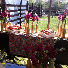 Bem casados - Gisela e Marcelo (deliciasdarack) Tags: vermelho amarelo rack da bem chita florido casado tecido chito delcias