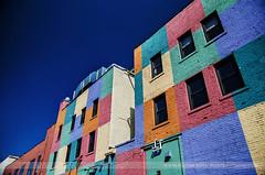 RAINBOW, Minneapolis, Minnesota (Seven Seconds Before Sunrise) Tags: door blue brick window minnesota architecture rainbow unitedstates minneapolis uptown twincities rainbowbuilding
