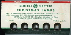 1957 GE C6 smooth carton (JeffCarter629) Tags: ge c6 generalelectric vintagechristmas vintagechristmaslights generalelectricchristmas gechristmas gechristmaslights generalelectricchristmaslights