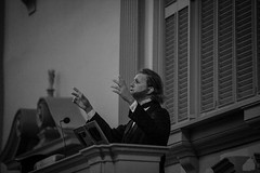 Robb Dimmick as Abraham Lincoln in the First Baptist Church in America