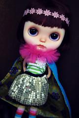 Minnie and the Amazing technicolor dream coat!