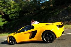 Yellow 12C Spider (jansolanellas) Tags: man black cars car yellow speed spider crazy super mclaren rims panning supercar v8 supercars blackrims 12c 2013 worldcars