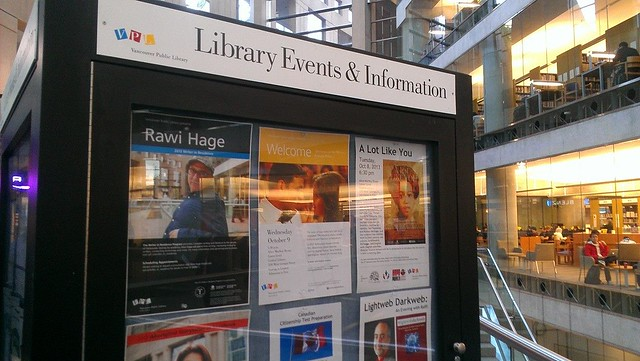 <p>I flipped out when I saw that Rawi Hage spoke at VPL just days before. </p>