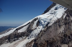 Ice Fall (loloboho) Tags: mountain snow ice flying aerial glacier climbing mthood mountaineering aerialphotography pentaxk10d