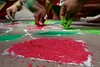 Muluggu /Rangoli (Diwali 2013) - 031 (Rajesh_India) Tags: india colours designs colourful tradition hyderabad diwali 2013 ameerpet muggulu mugguludesigns
