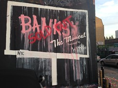 Banksy The Musical (HowAboutNo!) Tags: street brick london art lane shoreditch vision:text=0751 vision:outdoor=0842