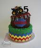 MONSTER TRUCK CAKE (cakewalkdesserts) Tags: birthday cake mud chevron monstertruck