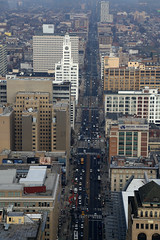 North Broad Street from Philadelphia's City Hall Tower