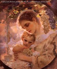 Eugenio Prati Madonna dell'uva 1988-1902 olio su tela Collezione privata Trento