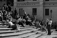 Tourists (VI) (withoutanickname) Tags: street people urban blackandwhite bw italy sunlight rome monochrome blackwhite nikon outdoor candid streetphotography tourists d5100