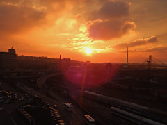 Winter sunshine (Lunaric) Tags: winter sunshine traffic belgrade nikonl820