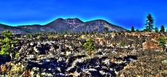 Mountains - Sunset Crater Volcano National Monument - Arizona - 14 November 2013 (goatlockerguns) Tags: arizona usa southwest west nature america desert natural unitedstatesofamerica nationalparks hdr highdynamicrange nationalmonument sunsetcratervolcano